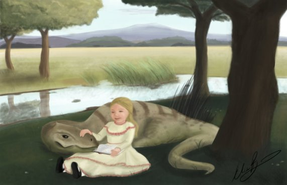 just_a_girl_and_her_chaoyangsaurus_by_elisetrations-d6ep4as